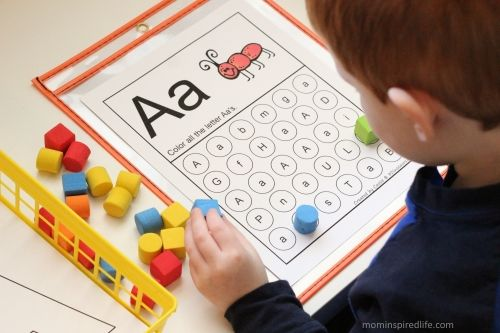 Literacy Learning Station Letters ABC Letter Find