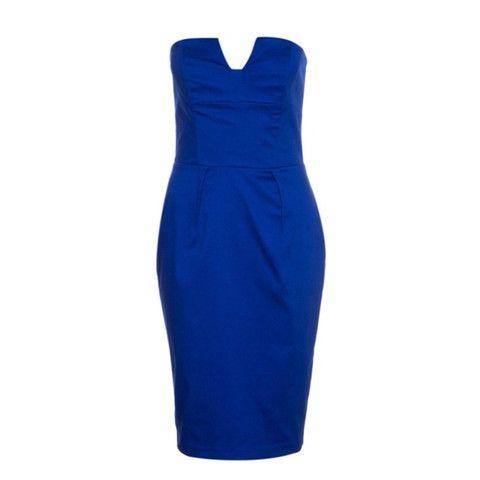 Kardashian Kollection for Lipsy Cotton Sateen Midi Dress