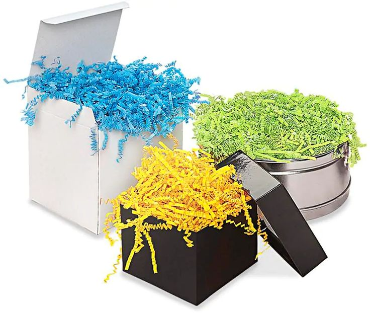Paper shred spring fill shredded paper in stock uline