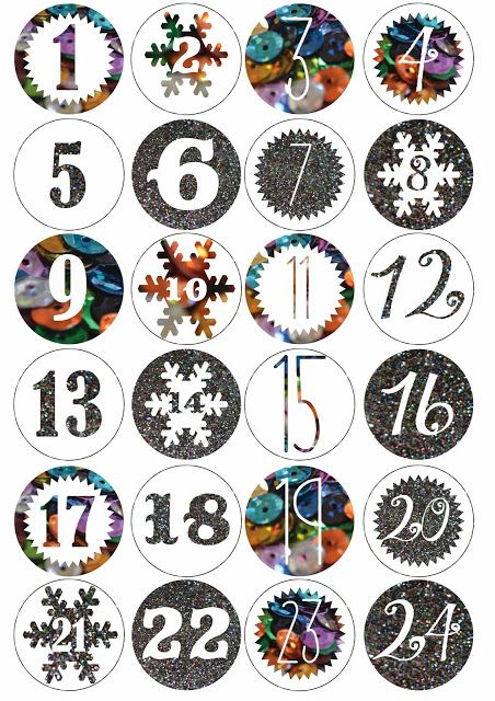 printable advent calendar, free christmas printable.