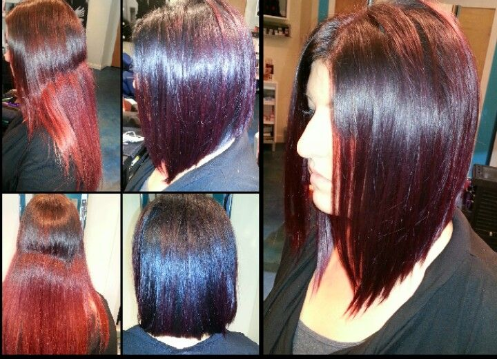 Plum Red Long Angled Bob Southern Girl Pinterest