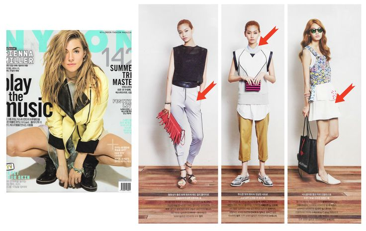 Fashion Magazine, Nylon Korea's July issue shows the styling look of DIM. E CRES. with sleeveless top as IT items in Summer!