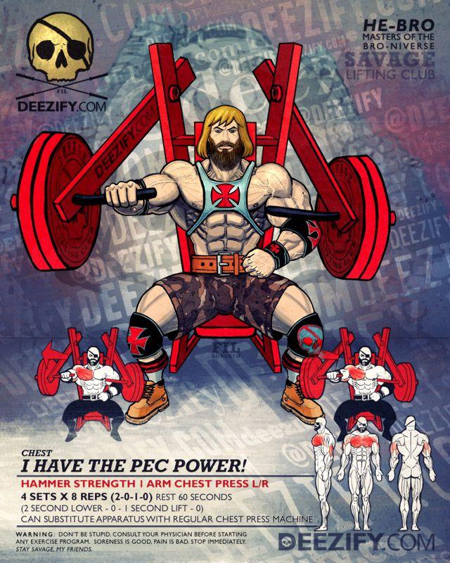 chest exercise: chest press hammer strength - heman