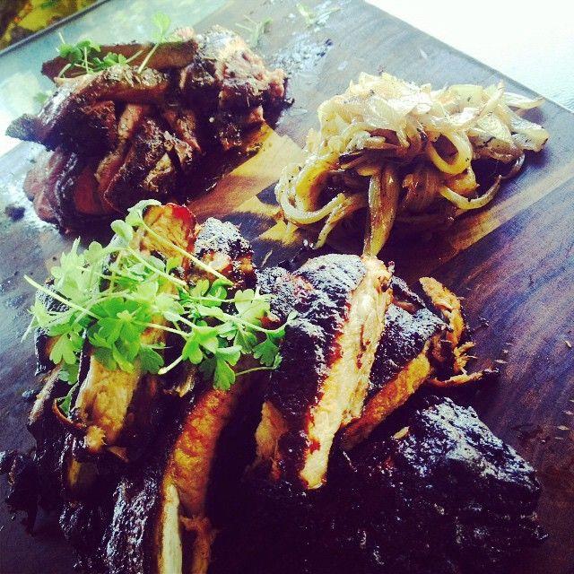 BBQ pork ribs and BBQ Lamb. #spring #BBQtime