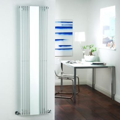 Milano Reflect - White Designer Radiator With Mirror 1600mm x 420mm