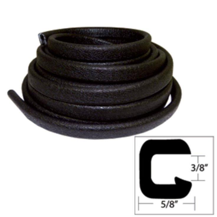 TACO Flexible Vinyl Trim - ⅜ Opening x ⅝W x 25L - Black