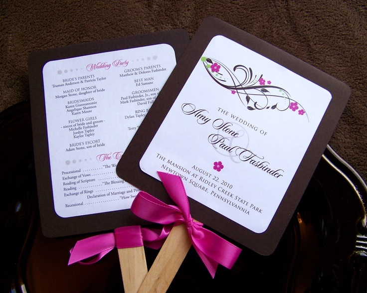 Custom wedding programs the paddle fan by paperdreamsdesign 199 wedding pinterest for Wedding paddle fans