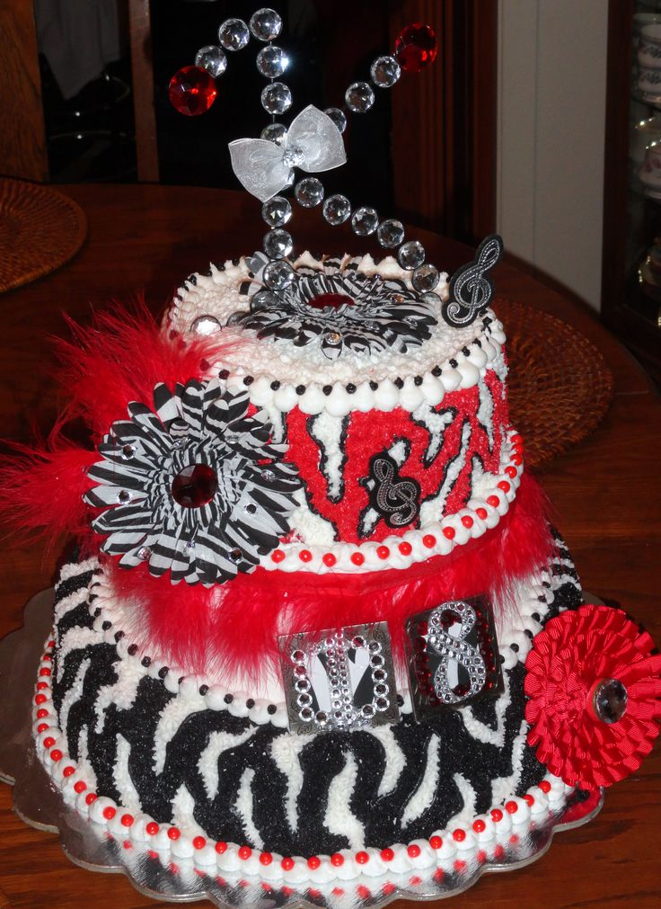 Girl 39 s zebra 18th birthday cake cake ideas pinterest for 18th birthday decoration ideas for girls