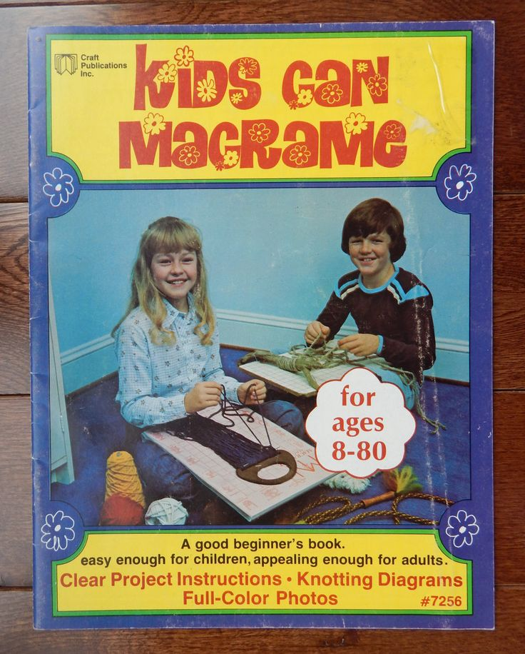 Beginner's Macrame Instructions/ Kids Can Macrame, Easy for Children, Appealing to Adults/ wall hanging, butterfly, fish, belt, tote by RedWickerBasket on Etsy