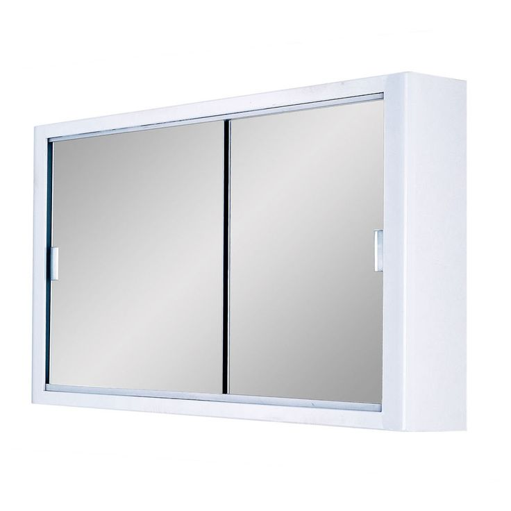 door sliding mirror cabinet 765x460x143mm double sliding mirror doors