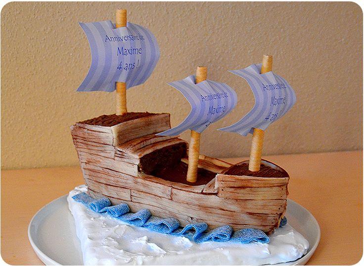 ma super recette de g teau d 39 anniversaire pour tous les enfants aventuriers le g teau bateau. Black Bedroom Furniture Sets. Home Design Ideas