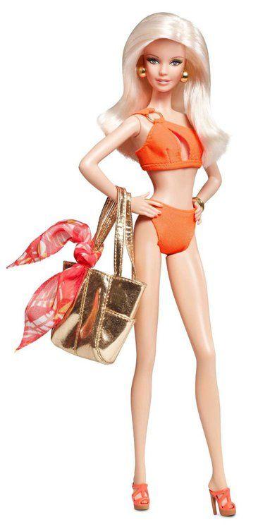 Barbie Basics Swimsuit Doll Model 07 Collection 003 Orange