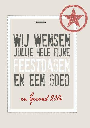Kerstkaarten - Kerstkaart Stamp 1 - Laat je kerstkaarten drukken bij Drukzo…