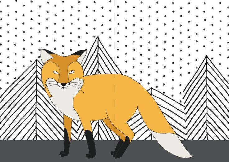 animal / tail cards fox