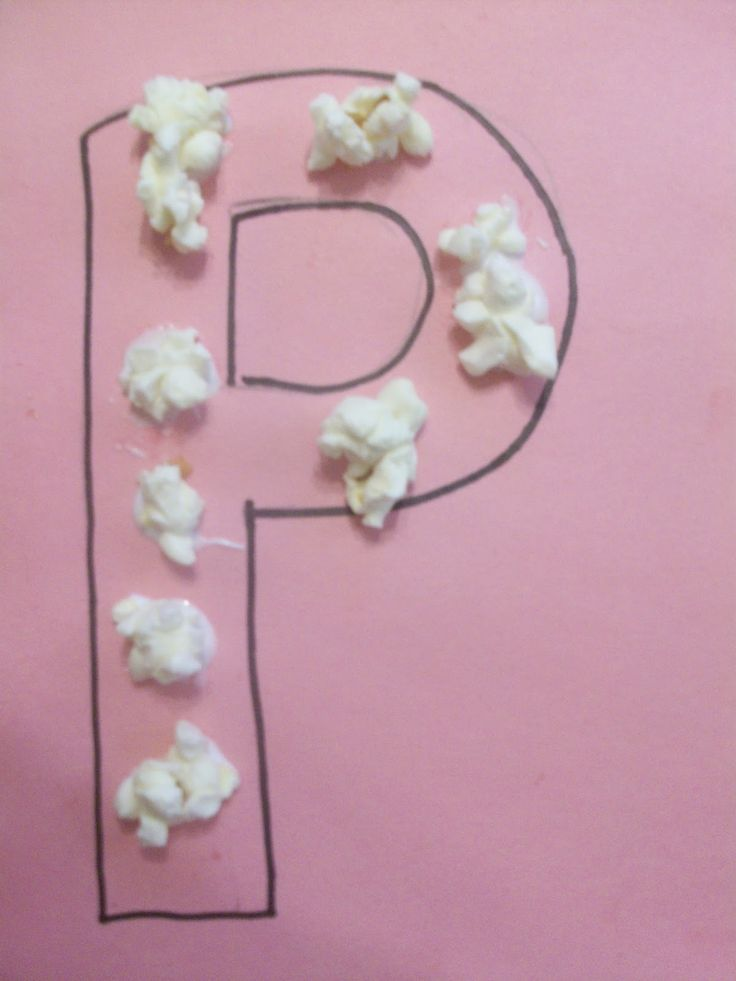 Letter P Crafts | Letter P is for popcorn craft! We made some popcorn for a snack one ...
