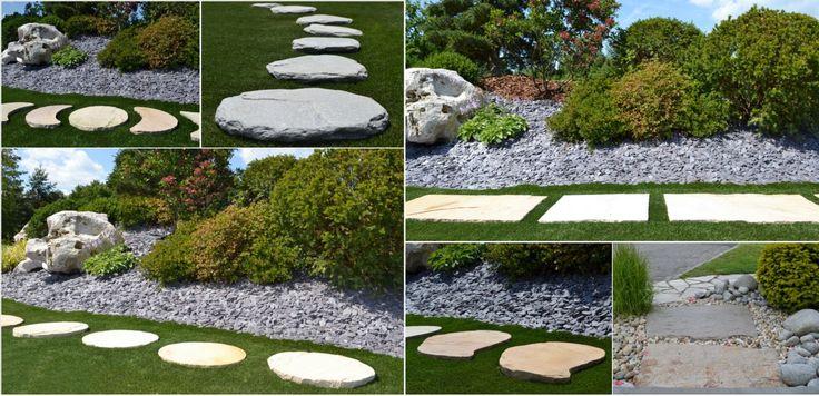 nášlapy z přírodního kamene - koláž
