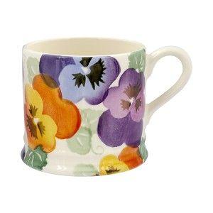 Small Mug Purple Pansy - Nieuw! - Pine-apple - Importeur Emma Bridgewa