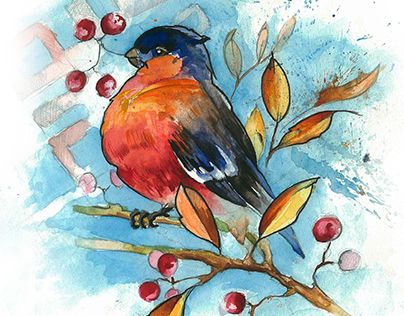 "Check out new work on my @Behance portfolio: ""watercolor bird"" http://be.net/gallery/32013355/watercolor-bird"