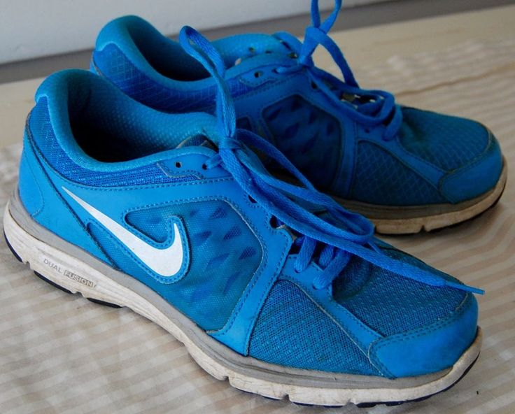 Womens NIKE DUAL FUSION RUN Running Sneakers Shoes 8.5 BLUE Athletic LACE UP #Nike #RunningCrossTraining