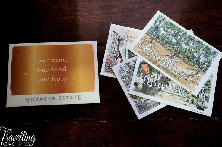 Voyager Estate Margaret River Discovery Menu postcards