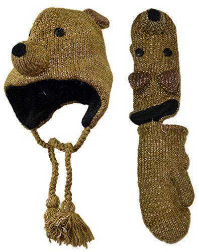 Brown bear animal themed woolen knit cap and mittens set ... https://www.amazon.com/dp/B017AQ1YXI/ref=cm_sw_r_pi_dp_x_OV1tyb0PWJCVK