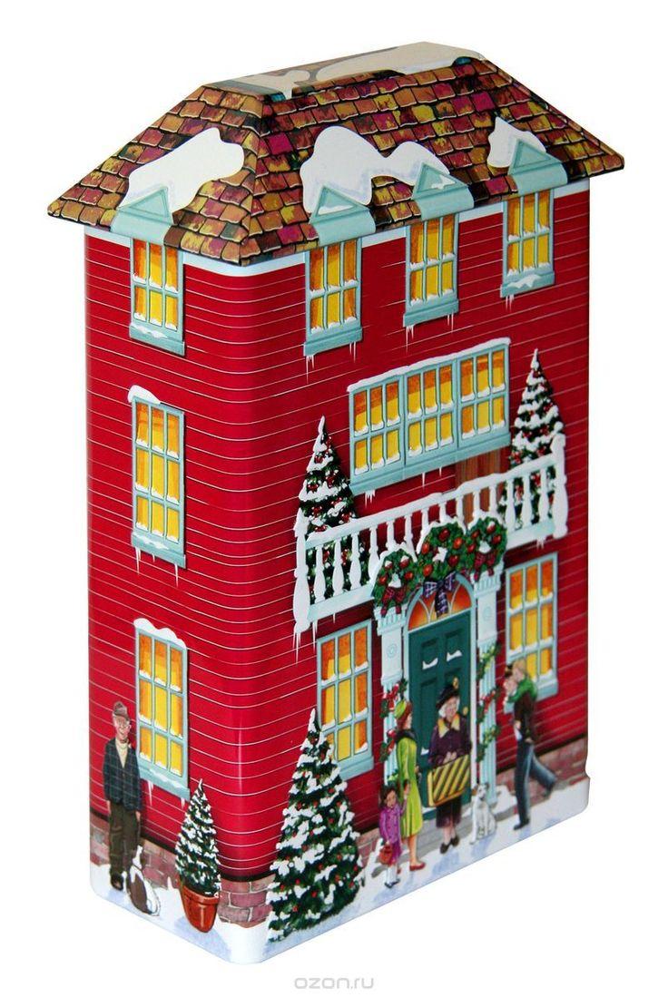 Купить Сладкая Сказка Зимний Дом красный имбирное печенье, 260 г в интернет-магазине OZON.ru