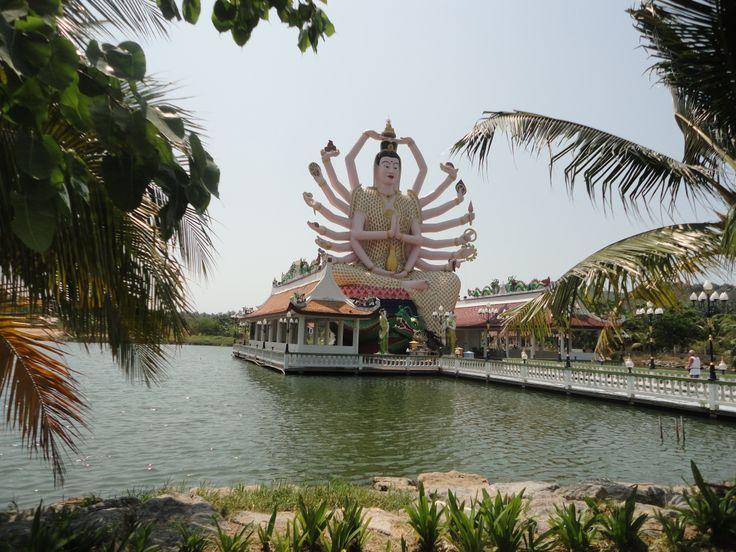 Guanyin, Goddess of Mercy, Wat Plai Laem temple, Koh Samui, Thailand. Photo: Pat Hinsley
