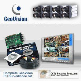 8 Color Sony Super HAD CCD 600 Line Professional Camera Geovision Security Camera System Kit (Choose FPS) by CCTVSecurityPros. $1699.99. Turn your Intel Pentium PC into a Sophisticated Surveillance System. The GeoVision Digital Video Recording Card is recognized as the industry best in terms of digital video features, technology, and functionality. With your PC DVR you can perform all the most current functions such as live internet viewing, sophisticated motion detectio...