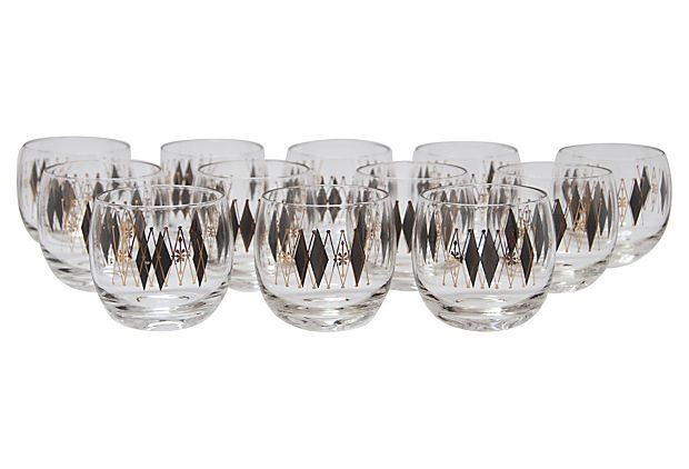Midcentury Bar Glasses, S/12 $200.00 Estimated Market Value sale price $119.00