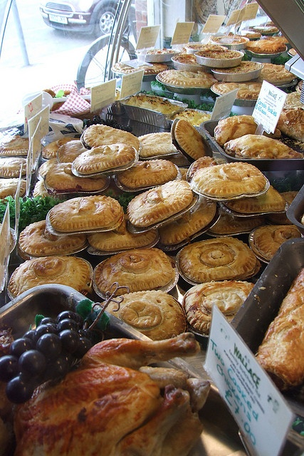 Wallace's in Shore Road, East Wittering pie shop, West Sussex - delicious after a day on the beach!