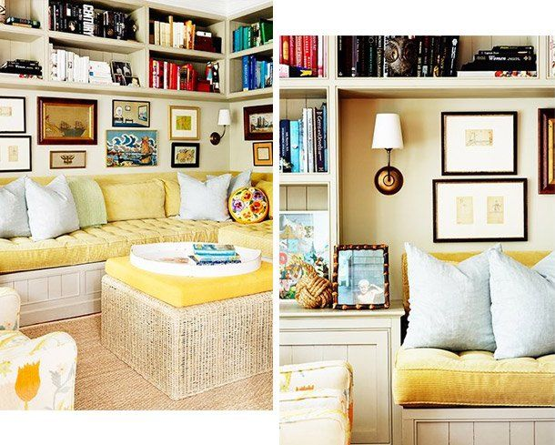 Lovely built-in bookshelves