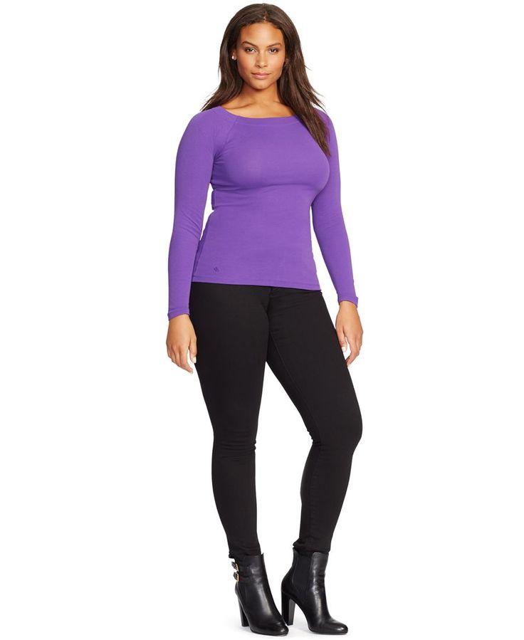 Lauren Ralph Lauren Plus Size Long-Sleeve Top