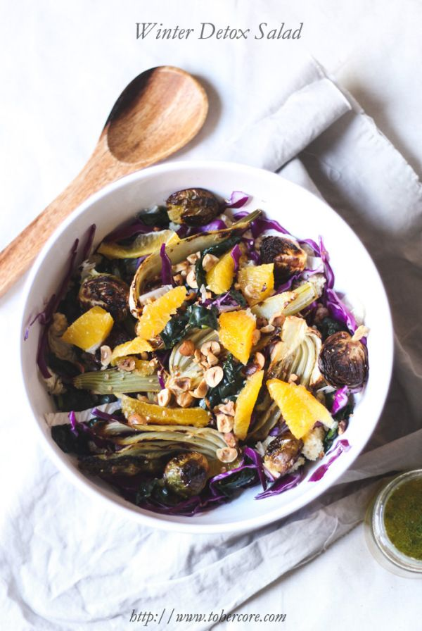 Weekly Meal Plan ala Blog Society | It's Matilde - image of the Winter Detox Salad by To Her Core.