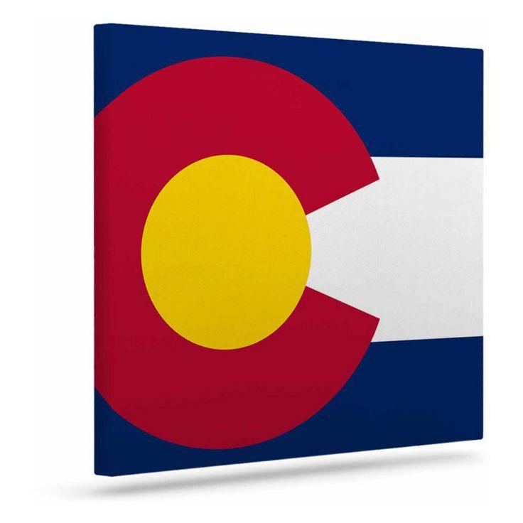 KESS InHouse Bruce Stanfield Flag of Colorado II Art Canvas - BS1021AAC01