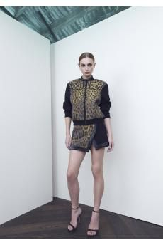 Bronze Horseman Bomber and Affinity Skirt by CAMILLA AND MARC