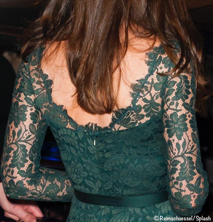 Kate Back Green Lace Temperley London Gown NPG Portrait Gallery Gala March 28 2017 Splash
