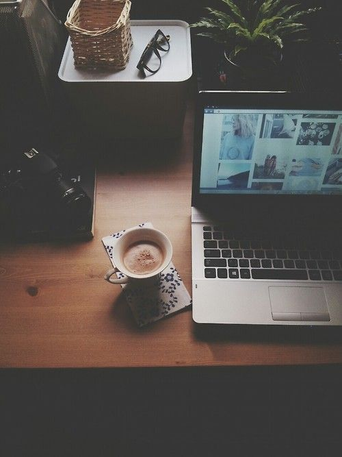 """Sometimes after a rough day you just need to wind down with some coffee or tea, a book or pinterest"" - Truth"