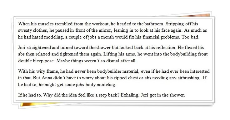 Excerpt - Jori considers his options.