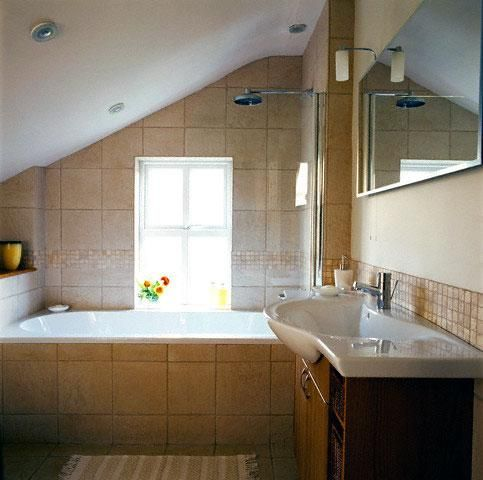 1920s+bathroom+sloped+ceiling | Attic Bathrooms with Sloped Ceilings