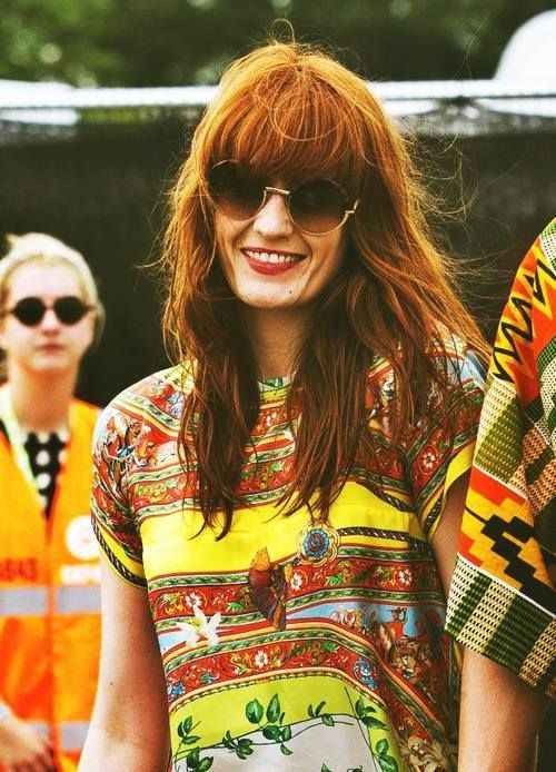 Florence Welch-- she's just so cool.. I love this photo of her!