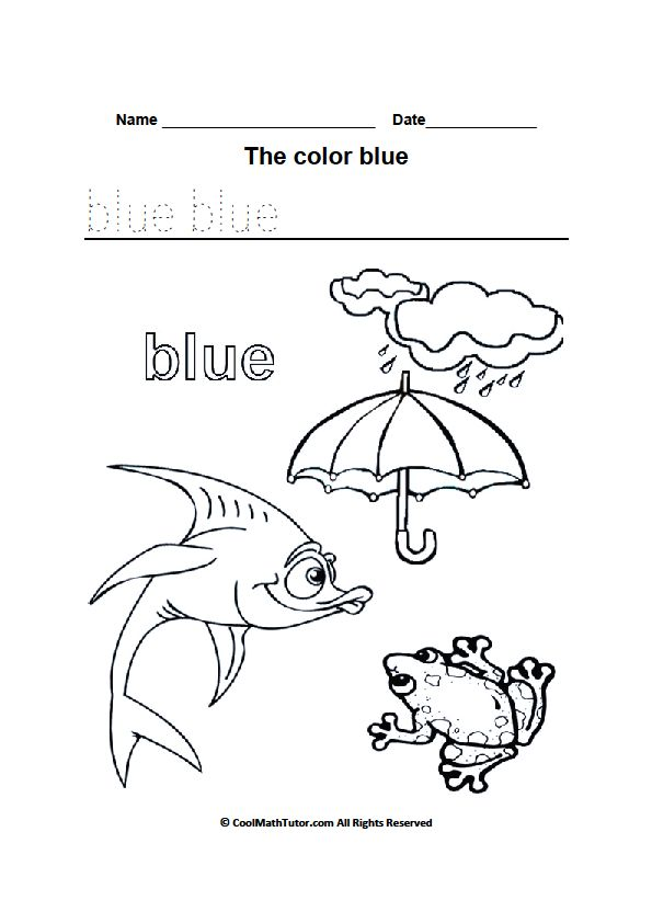 Color Blue Worksheets for Kindergarten | Color worksheets ...