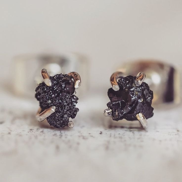 NEW IN || Raw Black Diamond Earrings || Uncut, unpolished and completely unique (just like you) || Shop them now at www.indieandharper.com