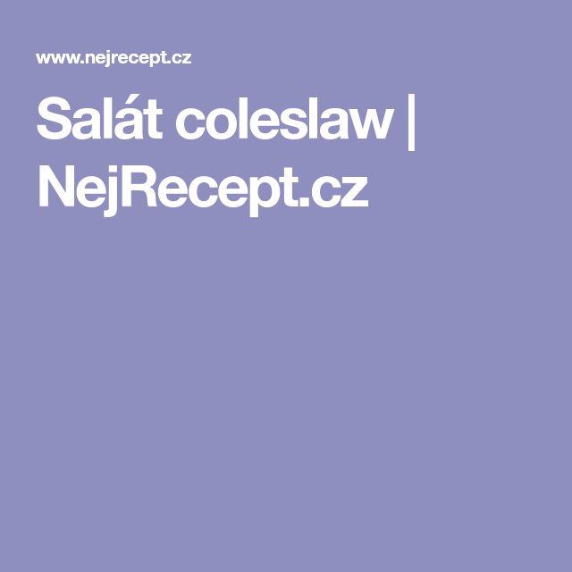 Salát coleslaw | NejRecept.cz