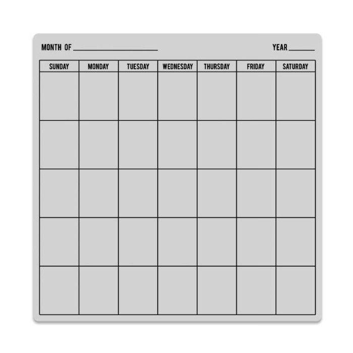 Kalendář - gumové cling razítko (1ks)