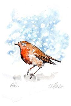HALF PRICE OFFER !! Robin water colour sketches, mini originals by CliffTowler on Etsy https://www.etsy.com/uk/listing/482074591/half-price-offer-robin-water-colour
