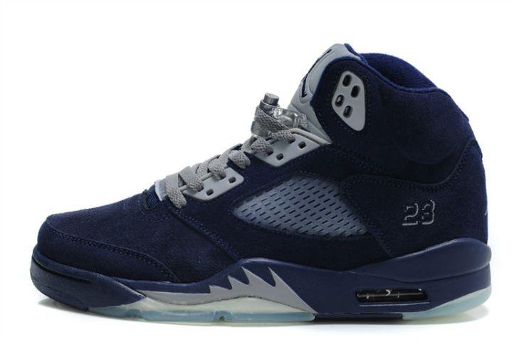 sports shoes 1ef7a dee69 ... denmark sample sneakerfiles air jordan shoes air jordan 5 retro suede  midnight navy grey air jordan