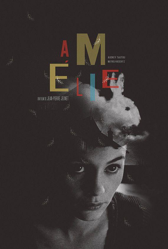 Amelie alternative movie poster by TheArtOfAdamJuresko on Etsy