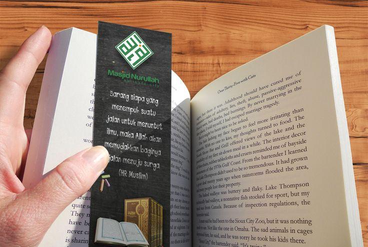 hasil cetak bookmark masjid nurullah