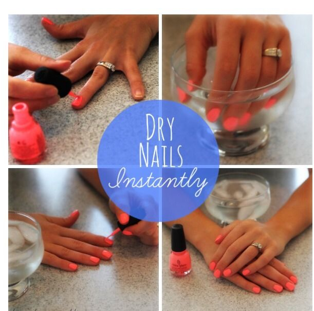 Easy Way To Dry Nails Instantly #Beauty #Trusper #Tip