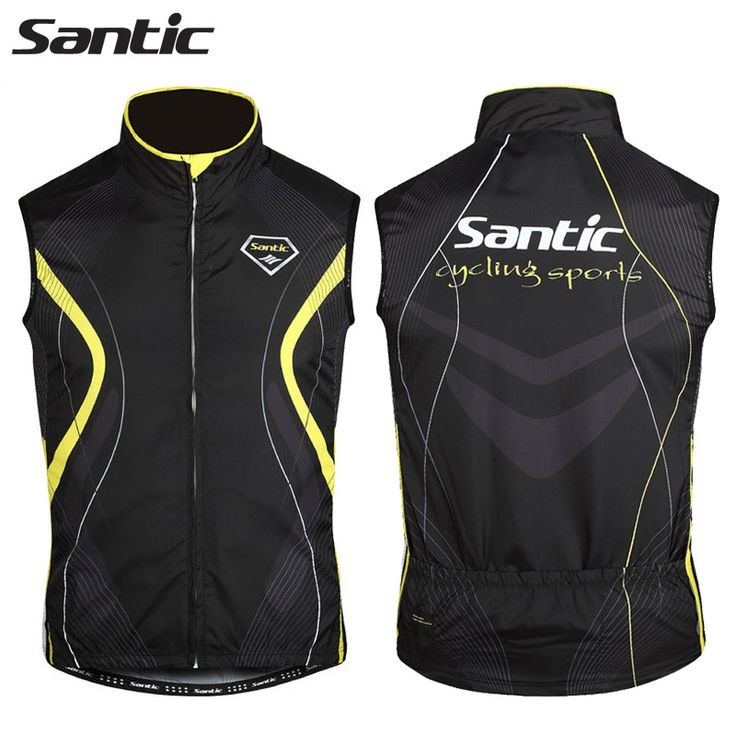 Santic Cycling Jersey Windproof Waistcoat For Men Sleeveless Anti-sweat Quik Dry Cycling Clothing Chaleco Ciclismo S-XXXL